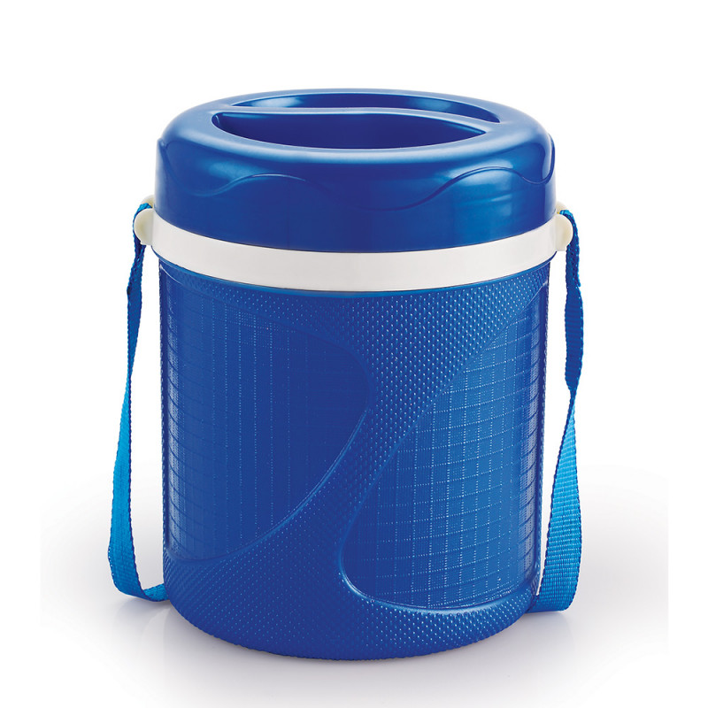 care max 3 Compartment Steel lunch box Blue